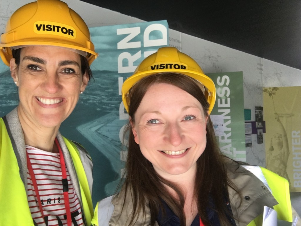 Gina & Nicola on site