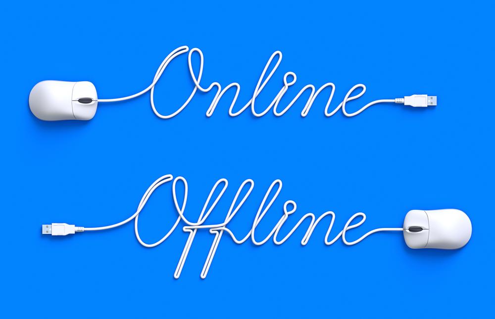 offline online presence