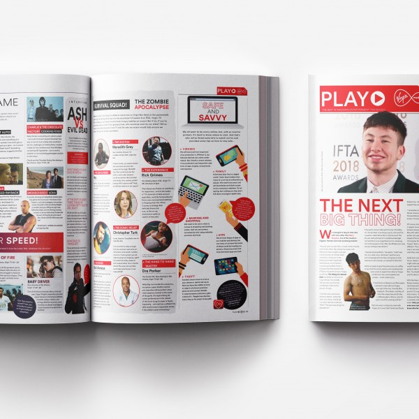Virgin Media Ireland's PLAY Magazine content marketing Zahra Media Group
